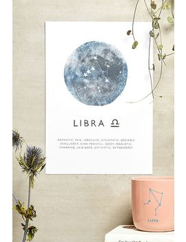 Ohh Deer Libra Horoscope Wall Art Print by Ohh Deer