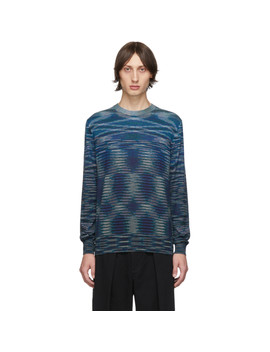 Blue & Black Crewneck Sweater by Missoni