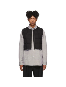 Black Gilling Vest by Dries Van Noten