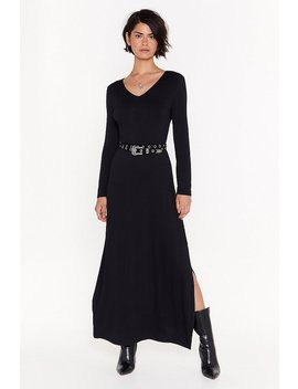 Slit 'em With The Truth Relaxed Maxi Dress by Nasty Gal