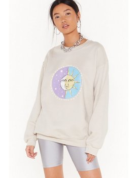 Celestial Being Sun And Moon Graphic Sweatshirt by Nasty Gal