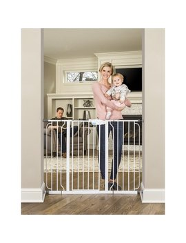 Regalo 38 Inch Extra Tall And 49 Inch Wide Walk Thru Baby Gate, Includes 4 Inch And 12 Inch Extension Kit, 4 Pack Of Pressure Mount Kit And 4 Pack Of Wall Mount Kit by Regalo