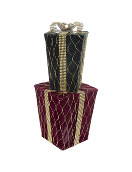 Green & Red Stacked Gift Packages by Hobby Lobby