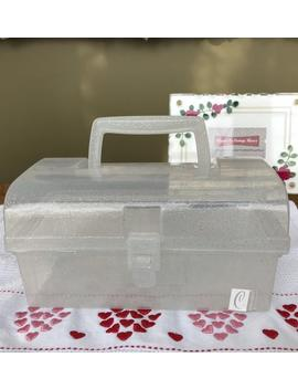 Vintage Caboodles Jellies White And Silver Glitter Organizer Vanity Case by Etsy