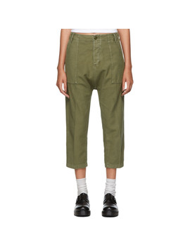 Khaki Utility Drop Trousers by R13