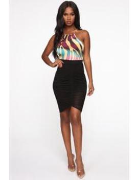 Pretty Poison Ruched Midi Skirt   Black by Fashion Nova