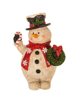 Carved Snowman by Hobby Lobby