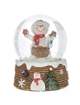 Snowman With Stocking Snow Globe by Hobby Lobby