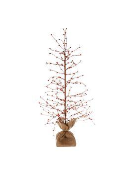 "Bethlehem Lights 36\"" Lit Beaded Berry Branch Tree W/Burlap Base by Bethlehem Lights"