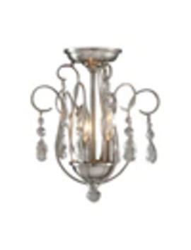 Portfolio Opula 12.5 In W Brushed Nickel No Shades Semi Flush Mount Light by Lowe's
