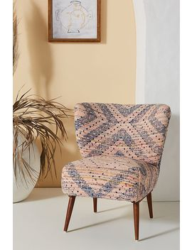 Alaris Rug Printed Petite Accent Chair by Anthropologie