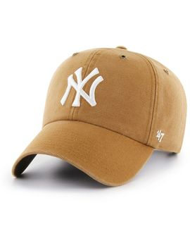 '47 Men's New York Yankees Carhartt Clean Up Brown Adjustable Hat by '47