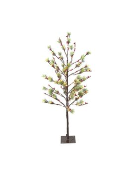 4' Red Berry Led Artificial Tree With 160 White Twinkle Lights by Qvc
