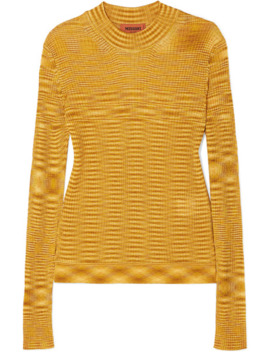 Striped Ribbed Crochet Knit Sweater by Missoni