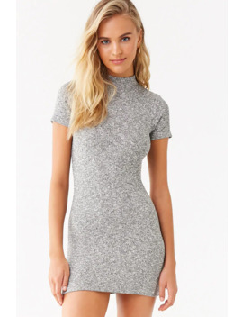 Marled Mock Neck Bodycon Dress by Forever 21