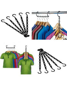 10pcs Space Saver Saving Hanger Clothes Wonder Magic Closet Organizer Hook by Ebay Seller