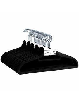 Hangers Black Set Of 50 Non Slip Velvet Clothes Hangers Trousers Coat Hangers by Ebay Seller