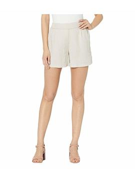 Jaelyn Woven Linen High Waisted Pleat Shorts by Michael Stars