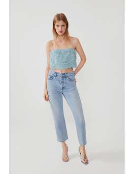 Feather Look Cropped Top View All Shirts by Zara
