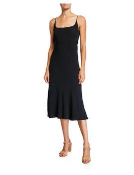 Astr Joan Scoop Neck Sleeveless Midi Dress by Astr