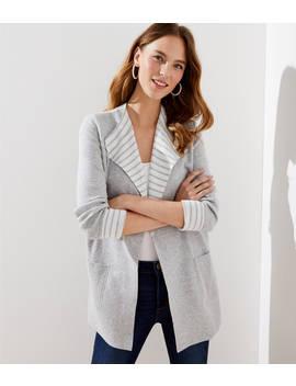 Striped Reversible Sweater Jacket by Loft