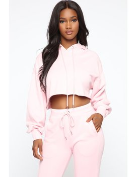 Don't Miss You Lounge Cropped Hoodie   Pink by Fashion Nova