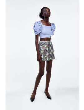 Sequin Mini Skirt View All Skirts Woman by Zara