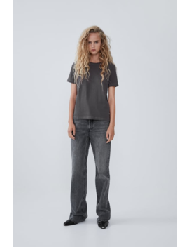 T  Shirt With Ripped Detail Basics T Shirts Trf by Zara