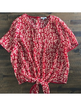 Like New Madewell Red Gauze Top. by Madewell