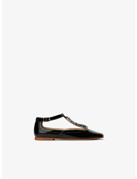 Patent Leather Strap Ballet Flats New Ingirl by Zara