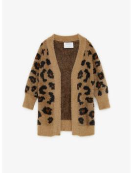 Animal Print Knit Cardigan New Ingirl by Zara