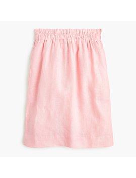 Petite Pull On Linen Skirt In Beauchamps Linen by J.Crew
