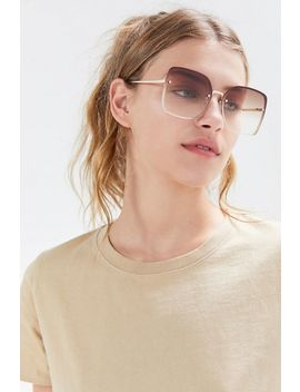 Barb Oversized Rimless Sunglasses by Urban Outfitters