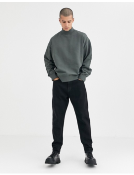 Weekday Dennis Sweatshirt In Dark Grey by Weekday