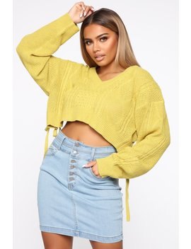 Only Good Thing Sweater   Mustard by Fashion Nova