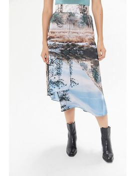 House Of Sunny Printed Midi Skirt by House Of Sunny
