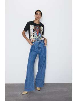 Front Print T  Shirt Graphics &Amp; Slogans T Shirts Woman by Zara