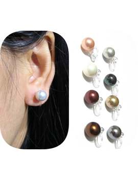 8mm Mop Shell Pearl Clip On Earrings |10 A| Comfortable Clip On Stud Non Pierced Earrings Invisible Bridal Clip On Wedding Clip On Earrings by Etsy