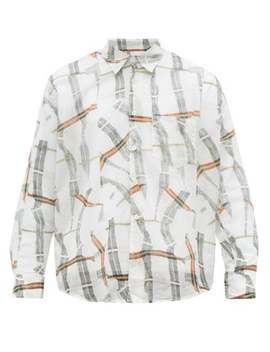 Coco Cracked Check Cotton Shirt by Our Legacy