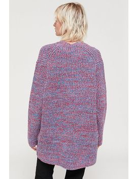 Uo Harriet Marled V Neck Tunic Sweater by Urban Outfitters