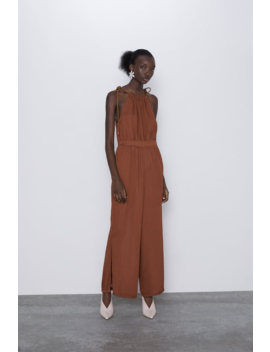Jumpsuit With Cord Straps Jumpsuitswoman by Zara