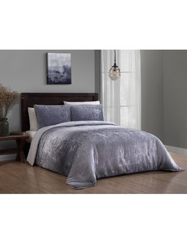 Bradshaw 3pc Velvet Ombre Comforter Set by Addision Home
