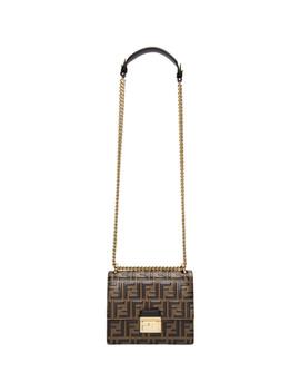 Brown Small 'forever Fendi' Kan I Bag by Fendi