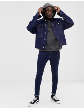 Heart &Amp; Dagger Denim Jackets In Navy by Heart & Dagger