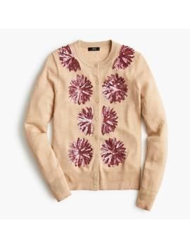 Sequin Flower Jackie Cardigan Sweater by J.Crew