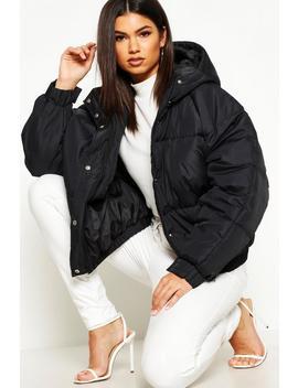 Oversized Raglan Puffer Jacket by Boohoo