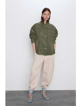 Corduroy Overshirt With Pockets Join Lifewoman Cornershops by Zara