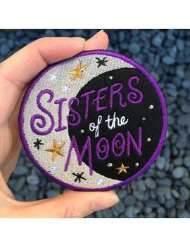 Sisters Of The Moon Embroidered Felt Patch by Etsy