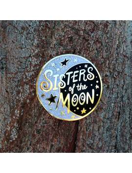 Sisters Of The Moon Hard Enamel Cloisonne Glitter Pin by Etsy