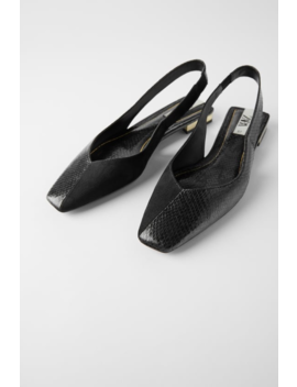 Slingback Ballet Flats Back To Office Shoes Woman by Zara